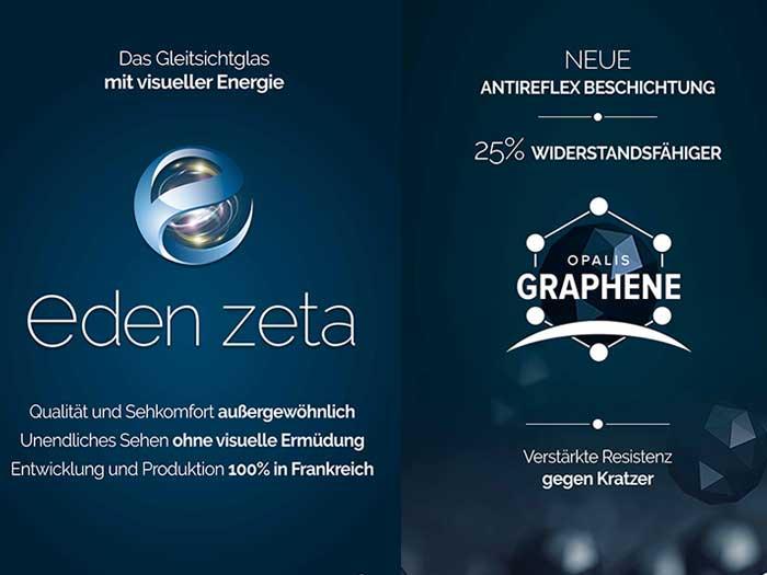 Gunter Fink (Divisional Director)stellt 2021 zwei Innovationen vor. Zum einen das neue Progressiv-Glas Eden Zeta und zum anderen die neue Beschichtung Opalis Graphene.