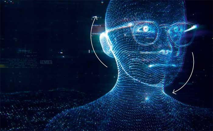 Der Avatar passt seine Sicht und seine Haltung automatisch an, um seine dreidimensionale Umgebung in Bewegung zu beobachten