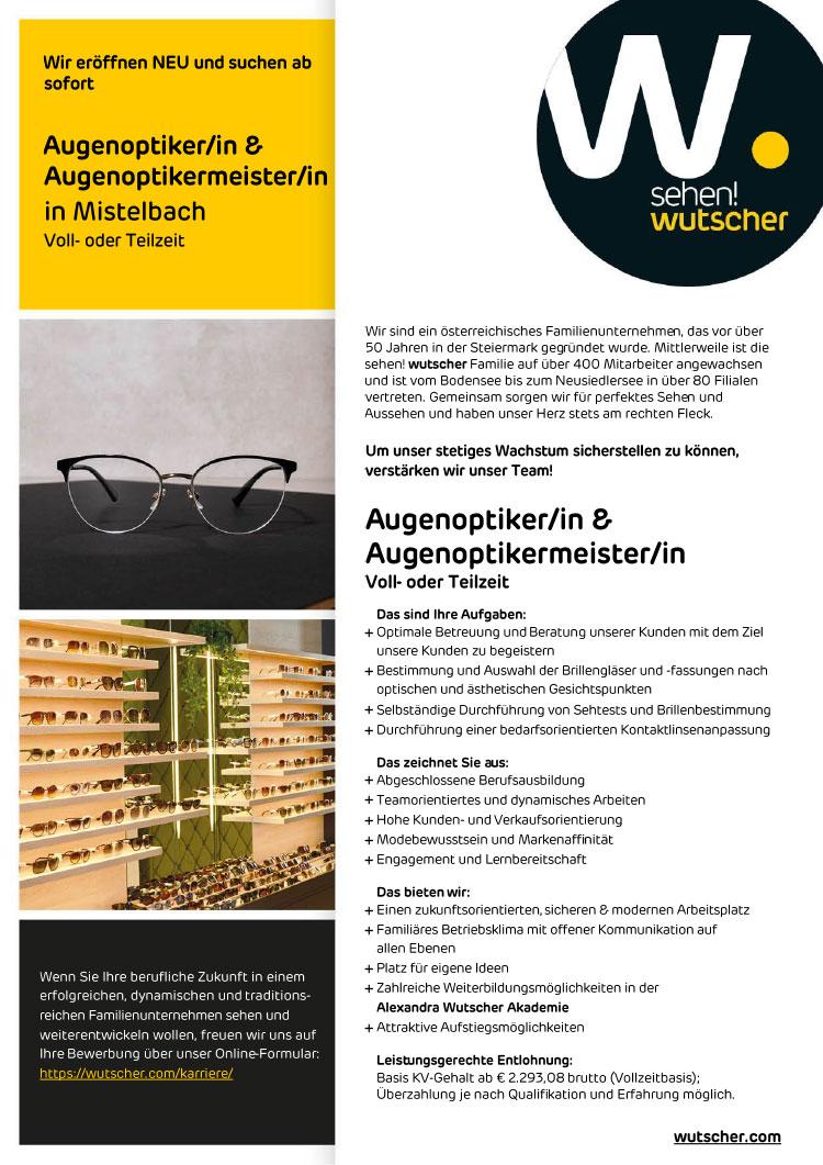 20210302 Stellenangebot Wutscher Mistelbach