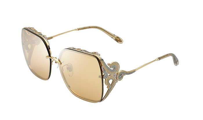 Durch die Fertigung einer exklusiven Schmuckbrille feiert Chopard Eyewear die Schönheit und Kreativität, die das Unternehmen mit der Welt der Mode, der Kunst und des Kinos teilt