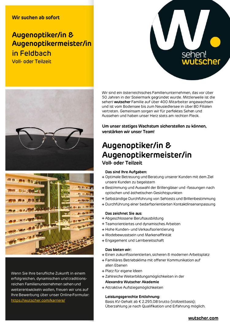 20210427 Stellenangebot Wutscher Feldbach