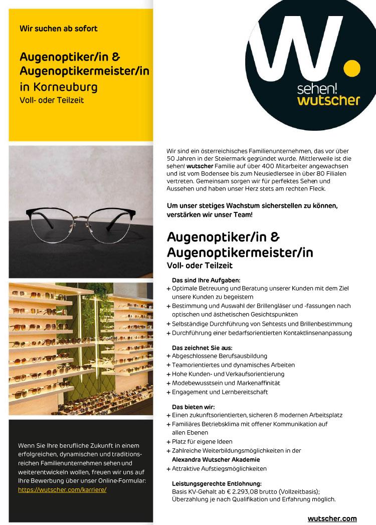 20210427 Stellenangebot Wutscher Korneuburg
