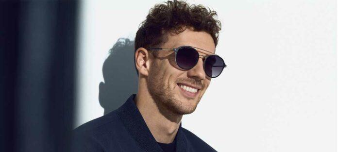 Leon Goretzka trägt die Kollektion 2021 von BOSS Eyewear