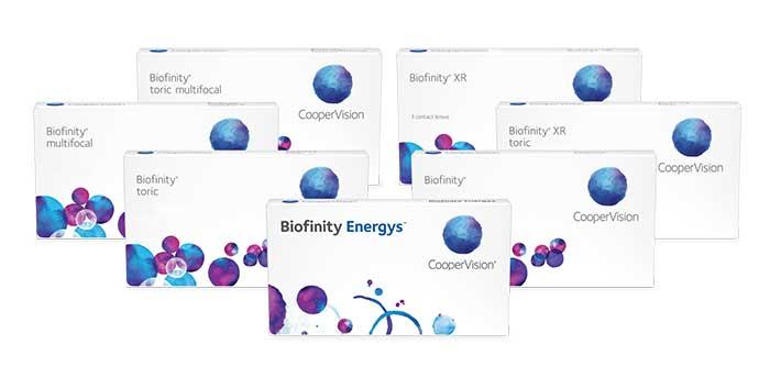 Sieben eigenständige Biofinity® Familienmitglieder bieten mittlerweile mehr als 200.000 Korrektionsmöglichkeiten