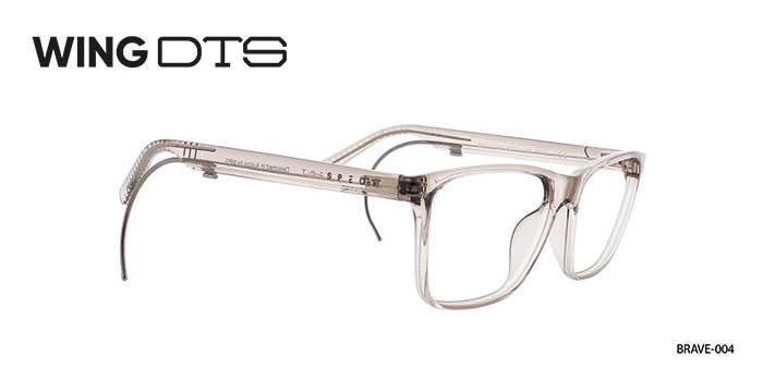 Durch einen unauffälligen Schieber am Brillenbügel lässt sich blitzschnell ein Zusatzbügel ausfahren, der sich hinter das Ohr legt