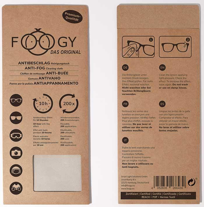 FOOGY mit neuer Verpackung